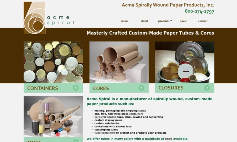 Acme Spirally Wound Paper Products, Inc.