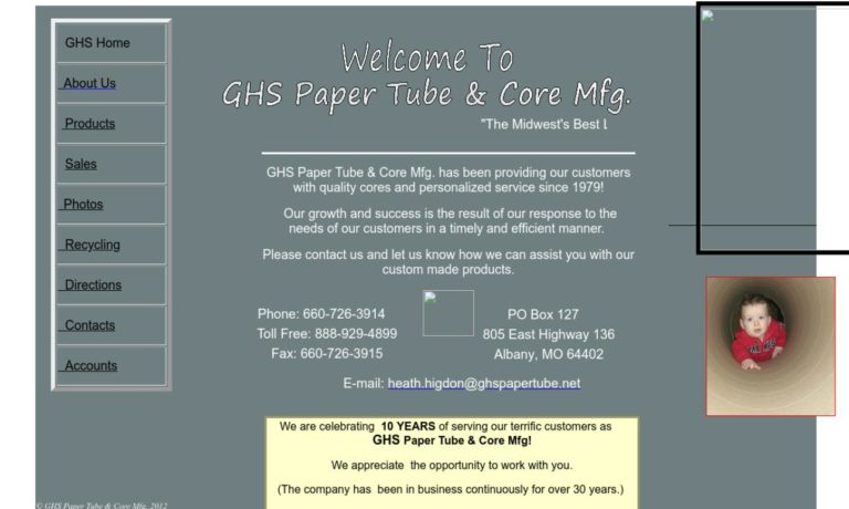 GHS Paper Tube & Core Mfg.
