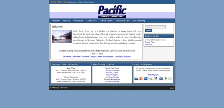 Pacific Paper Tube, Inc.